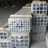 Tubo cuadrado de aluminio sacado 6063-T5, 6061-T6
