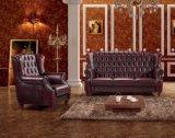 Bank van Chesterfield van het Leer van de luxe de Hoge Achter Rode Vastgestelde Mej.-09#