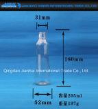 Freie Glasflasche für Schmieröltankanlage mit Schrauben-Kappen