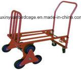Carro da zorra do caminhão de mão da alta qualidade do trole da mão da escada de seis rodas