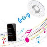 8 pulgadas de diámetro Masaje Altavoz Musical Bluetooth cabezal de ducha