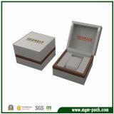 Caixa de relógio de madeira da embalagem feita sob encomenda lustrosa elevada