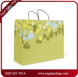 2017 sacs floraux d'achats de cadeau de scintillement lourd floral iridescent de sacs en papier