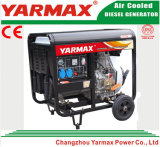 Groupe électrogène diesel refroidi par air de bâti ouvert monophasé de moteur diesel de Yarmax Genset Ym3500e