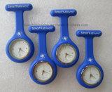 Relógio feito sob encomenda da enfermeira do silicone do relógio Pocket dos cuidados da alta qualidade