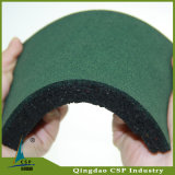Черная резиновый плитка для гимнастики, резиновый половой коврик