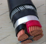 4コアCu/XLPE/Swa/PVC地下の装甲電源コードのサイズ