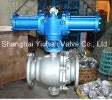 Válvula de esfera API608 de quatro vias pneumática