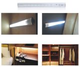 Luz sem fio do gabinete do armário do armário do Wardrobe da cozinha da lâmpada da câmara de ar do detetor infravermelho o mais novo da luz da noite do sensor de movimento de 10 diodos emissores de luz IR