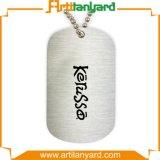 Etiqueta de perro del metal de la insignia del diseño del cliente con el collar