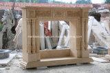 손에 의하여 이집트 새겨지는 크림 대리석 벽난로 Sy-303