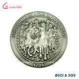 Kundenspezifisches Metal 3D Antique Silver Souvenir Coin Wholesale