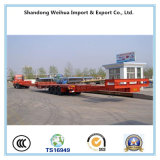 大きい装置の輸送のためのLowbedの拡張可能な半トレーラーの頑丈なトラック