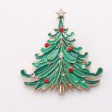 De Broches van het Kristal van de kerstboom speldt de Nieuwe Giften van Kerstmis van de Broche van de Charme van de Stijl van de Boom van de Juwelen van het Boeket van de Manier Groene Verglaasde