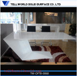Design Standard Standard Taille de la table Premium White High Gloss Corian Artificial Marble Top Styles italiens Design moderne Custom Made Office Table