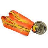 方法リボンが付いているスポーツ賞メダル