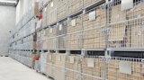Jaulas plegables de acero del acoplamiento de alambre del almacén
