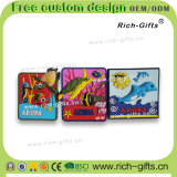 Les aimants de réfrigérateur de PVC ont personnalisé le souvenir Aruba (RC-AA) de cadeaux de promotion de dessin animé