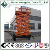 Plataforma de funcionamiento del vector del trabajador de la elevación hidráulica de las tijeras