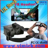 Plástico 150g pequeno da dobradura preta vidros 3D virtuais de Smartphone Vr da tela de 5.5 polegadas para os jogos 3D e os filmes 3D (VMK-G001)