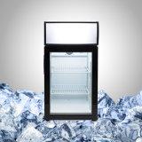 Mini refrigerador Desktop R134A R600A da porta de vidro