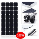 Heißer flexibler Sonnenkollektor des Verkaufs-100W halb mit Sunpower Zellen