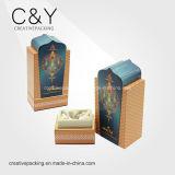 Cadre de empaquetage fait sur commande de bouteille de parfum de papier d'impression avec le flocage