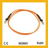 Cordon de connexion de fibre optique du duplex 3.0mm de LC/LC 3m 62.5/125um millimètre