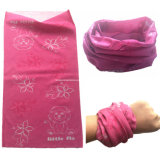 Factory OEM Produce Custom Design Impression Microfibre Seamless Buff Style Kids Pink Magic Scarf