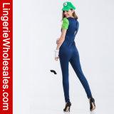 Марио Bros женщин супер. Costume Luigi женский люкс для партии Halloween