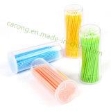 플라스틱 메마른 다채로운 처분할 수 있는 치과 솔 마이크로 도포구