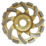 Roue de cuvette de diamant pour le béton en pierre de meulage