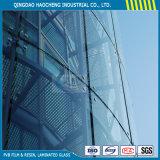 Vidro laminado moderado espaço livre de preço do competidor para o vidro do edifício