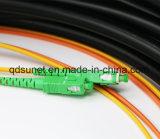 Tresse imperméable à l'eau de fibre optique de Sc/APC 2cores