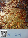 vidrio de la hoja de oro de 3m m, vidrio colorido, vidrio decorativo, el precio más barato