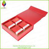 Casella elegante di favore dell'imballaggio dell'insieme di tè con la timbratura di oro