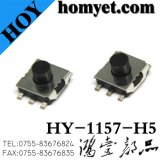 Interruptor do tacto com a tecla redonda 5pin de 6.2*6.2*5mm (SMD)