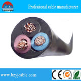 Cable flexible de cobre del conductor 3Core