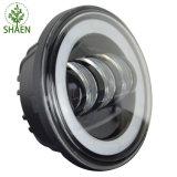 Linterna de 4.5 pulgadas con la luz redonda de la motocicleta LED del anillo del halo para Harley Davidson