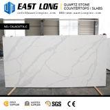 Bancadas artificiais brancas da pedra de quartzo de Calacatta para a decoração Home