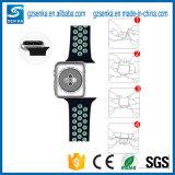 Großverkauf-Schwarzes mit weißer Silikon-Uhrenarmband-Brücke für Nike-Sport-Apple-Uhr