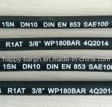 SAE100 R1at 1sn는 1개의 철사에 의하여 땋아진 유압 고무 호스를 골라낸다