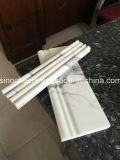 Bianco Carrara C 백색 돌 대리석 팬 모양 타일 바닥 벽 모자이크