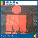 卸し売りカスタム広告の昇華によって印刷されるポリエステルファブリック陰の布の網の旗