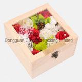 Cadre de empaquetage de empaquetage en bois en gros de fleur de boîte-cadeau
