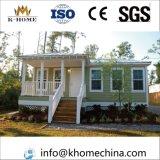 Chalet casero prefabricado de la casa prefabricada modular hermosa de la familia