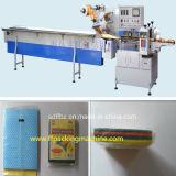 Volle automatische Abwasch-Schwamm-Reinigungsapparat-Fluss-Verpackungs-Maschine
