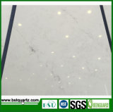 Laje branca de imitação de mármore da pedra de quartzo de Carrara