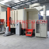 Cabina automatica del rivestimento della polvere nella riga di rivestimento della polvere