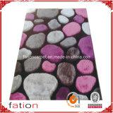 Tapetes Shaggy modernos internos do tapete da área com efeitos de pedra